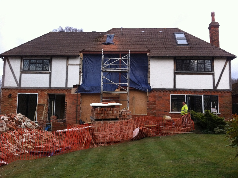 Two Storey Extension in Sevenoaks using reclaimed bricks