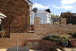 Storm damaged brick wall & steps rebuild, Newington - 2